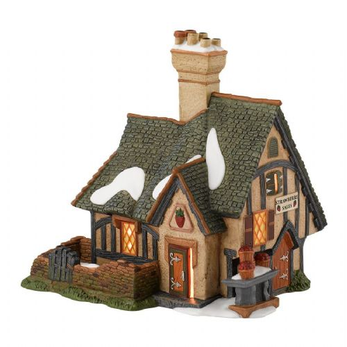 Department 56 Strawberry Cottage + Accessory Set
